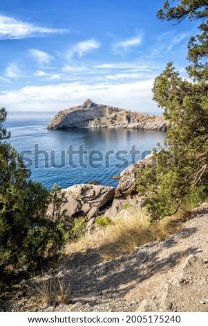 Crimea nature in September, Black Sea coast Stock foto ©