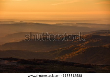 Crimean mountains. View from Chatyr-Dag mountain