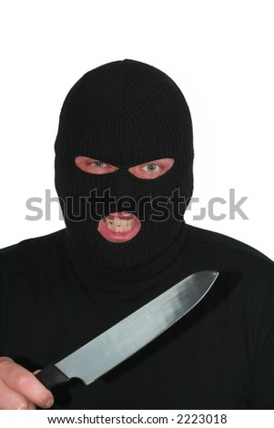 Criminal series 3 - angry burglar with a knife
