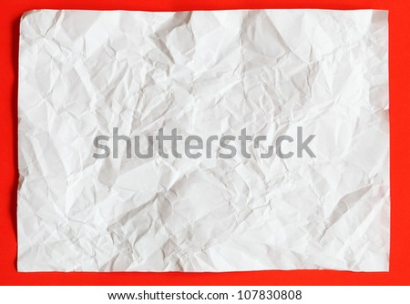 crimp White Paper texture sheet background red