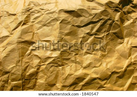 Crinkled brown paper bag