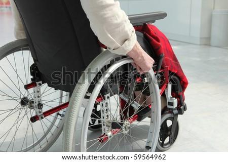 Cripple in wheelchair