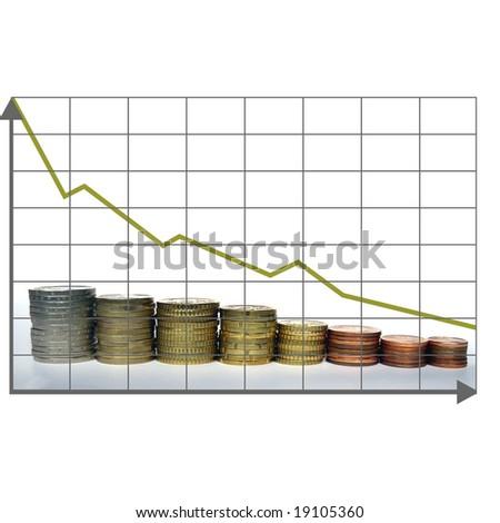 Crisis chart - stock photo