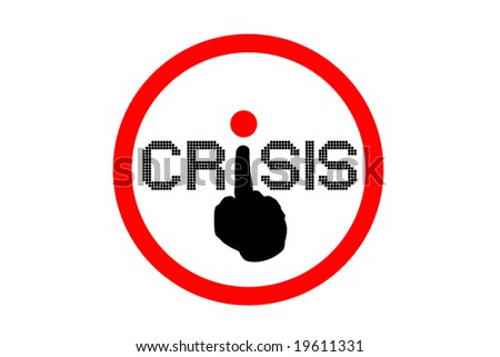 crisis. symbol