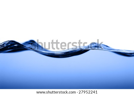 Crisp clear water photographed high speed.
