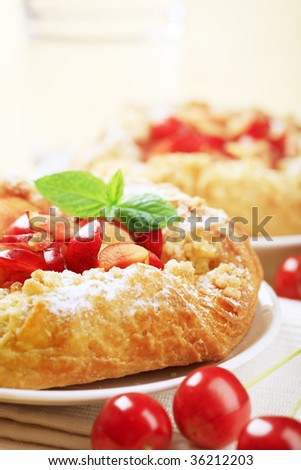 Crisp Danish pastries