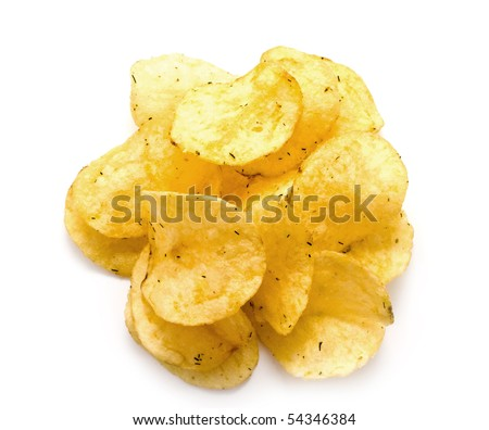 crisp fried chips with seasoning for your illustrations