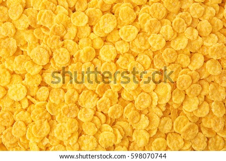 Crispy cornflakes background #598070744