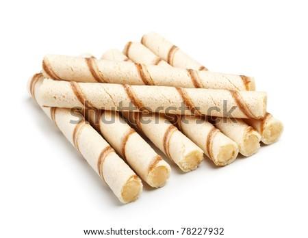 crispy cream sticks isolated on white background