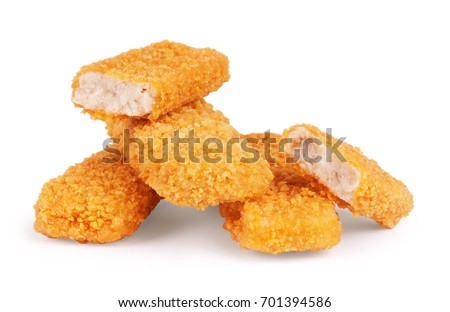 Shutterstock Crispy Fish fingers isolated on white background