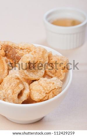 crispy fried pork fat also known as chicharon