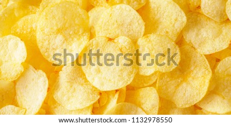 crispy potato chips snack texture background