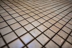 Criss-cross design of diamond shaped tiling. Rhombus pattern. Abstract background.