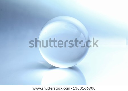 Cristal ball with reflection and shaddy background Foto stock ©