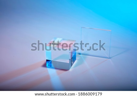 cristal cube in pattern and texture Foto stock ©