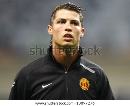 Cristian Ronaldo at the Champions League Final held at Luzhniki Stadium Moscow 21 May 2008 and contested by Manchester United v Chelsea FC