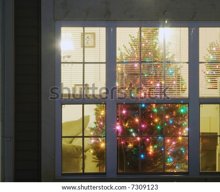 cristmas tree inside of a house