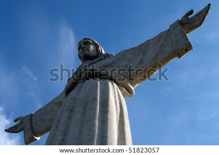 Cristo Rei, the statue of Jesus, in Almada;  Across the river from Lisbon, Portugal