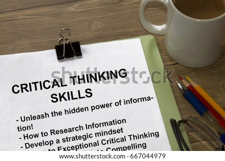 Critical thinking analytic skills seminar- many uses in the information industry.