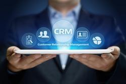 CRM Customer Relationship Management Business Internet Techology Concept.