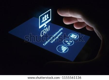 CRM Customer Relationship Management Business Internet Techology Concept. Сток-фото ©