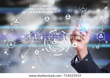 CRM. Customer relationship management concept. Customer service and relationship. - Shutterstock ID 714623419