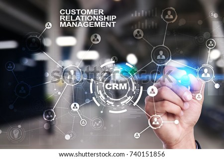 CRM. Customer relationship management concept. Customer service and relationship. - Shutterstock ID 740151856
