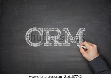 CRM - Customer Relationship Management concept on blackboard