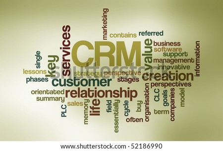 CRM - Word Cloud - stock photo