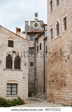 Croatia, Bale. Quiet street in old town