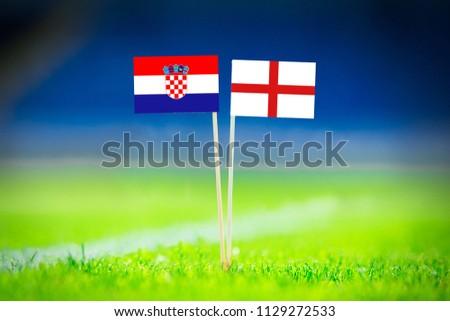 Croatia - England, Semifinal. 11. July, Football match. #1129272533