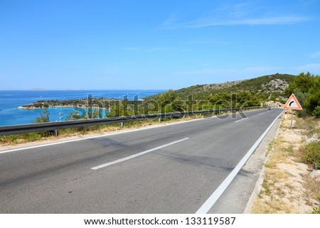 Croatia - road along the coast of Murter island