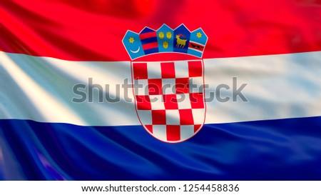 Croatia. Waving flag of Croatia. 3d illustration Сток-фото ©