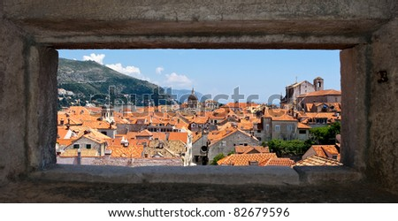 Croatian Dubrovnik with natural frame
