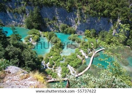 Croatian national park Plitvice lakes
