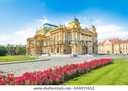 Croatian national theater in Zagreb, Croatia