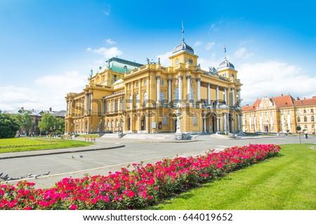 Croatian national theater in Zagreb, Croatia  Сток-фото ©