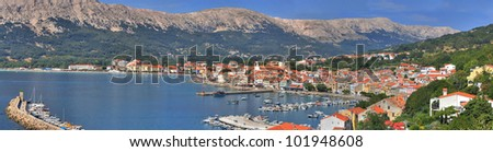 Croatian pearl, Baska - located in the island of KRK, with one of the most beautiful beach in Croatia