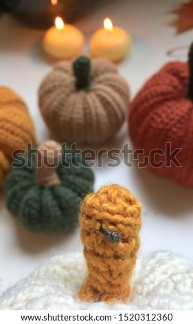 Crochet Pumpkins, Autumn Decor, Fall Decor, Home and Living, Knitted Pumpkins Decoration, Halloween, Thanksgiving Day