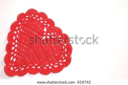 Crochet Valentine - stock photo