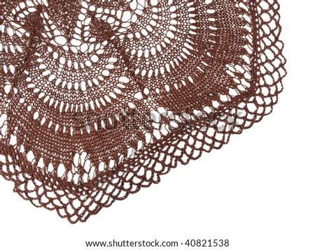 crocheted tablecloth