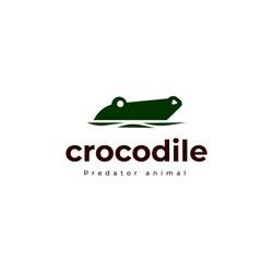 crocodile alligator predator reptile logo icon symbol