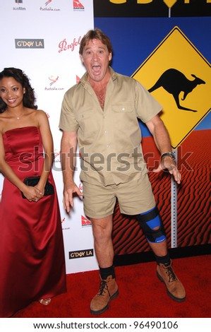 Crocodile hunter STEVE IRWIN at the Penfolds Icon Gala Dinner, part of the G'Day LA Australia Week, at the Hollywood Palladium. January 14, 2006  Los Angeles, CA  2006 Paul Smith / Featureflash