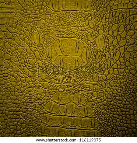 crocodile leather yellow