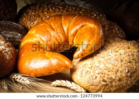 croissant, bread and buns