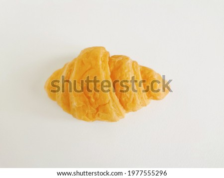 Croissants are commonly  eaten for breakfast with coffee or tea the main ingredients are bread flour, milk, sugar, yeast, water, butter Stock fotó ©