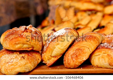 Croissants - fresh from the oven