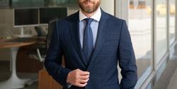 cropped confident businessman wear tie. businessperson in formalwear. business success