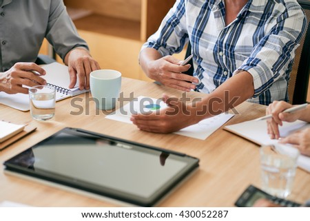 Cropped image of business people planning work #430052287