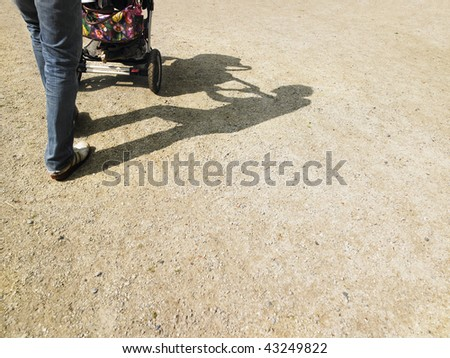 stock photo cropped view of adult pushing a baby stroller with shadows visible on the gorund horizontally 43249822 Elizabeth Berkley Nude Videos